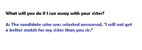 best interview questions -sister