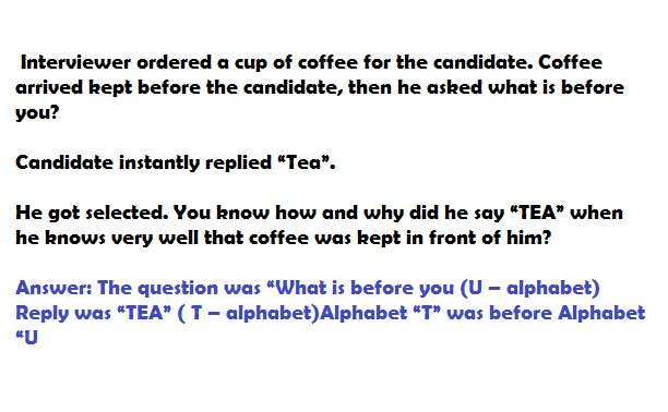 best interview questions -tea