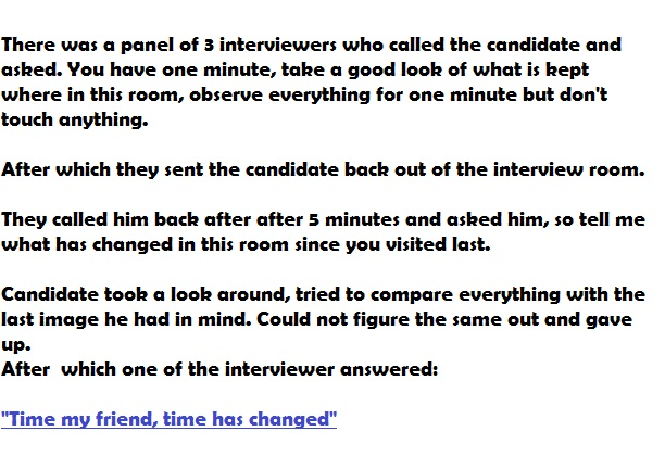 best interview questions -time