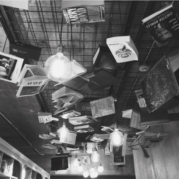 book night ceiling bed and book