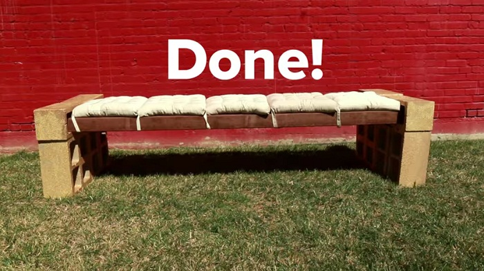 building a bench in 50 secs lay done
