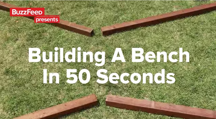 building a bench in 50 secs