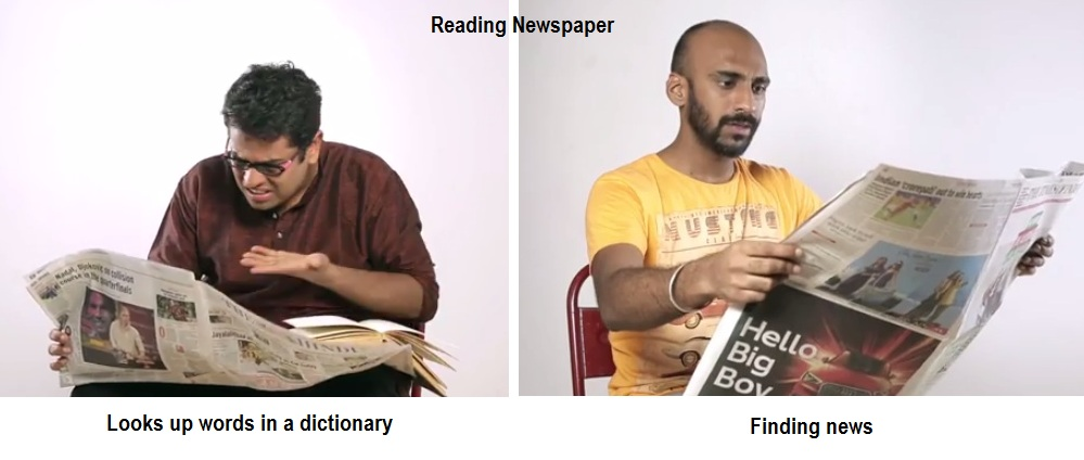 chennaikaaran and mumbaikar reading and finding news