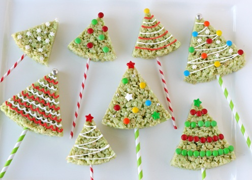christmas crispy rice pops