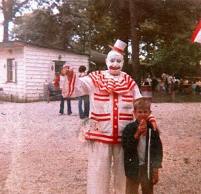 clown and the kid