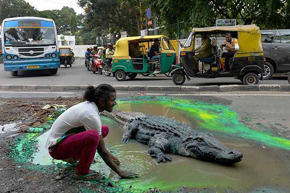 crocodile and the artist