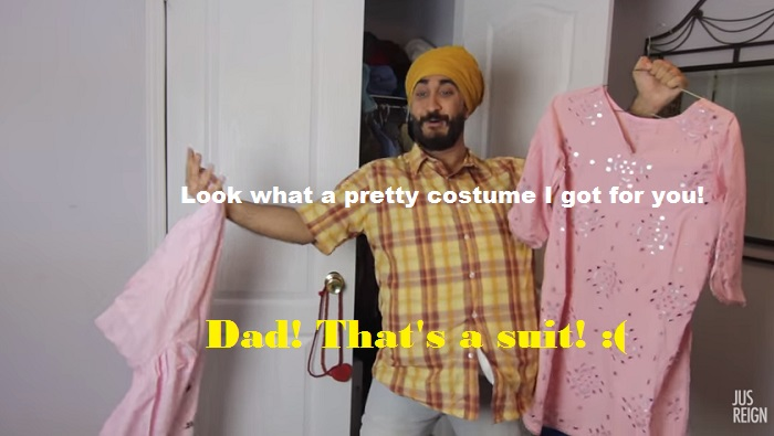 desi parents and halloween - costume for girls