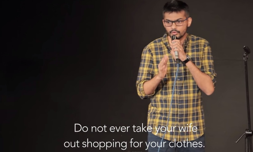 do not take your wife out shopping for your clothes