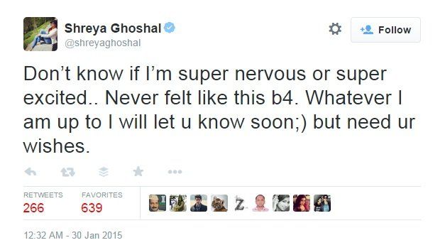 excited about her marriage shreya ghoshal