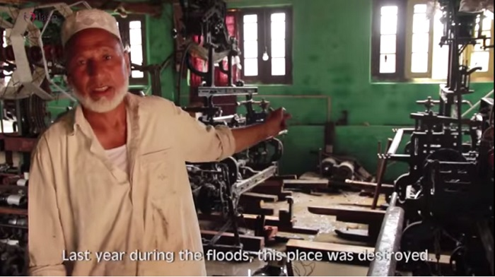 factory destroyed in floods