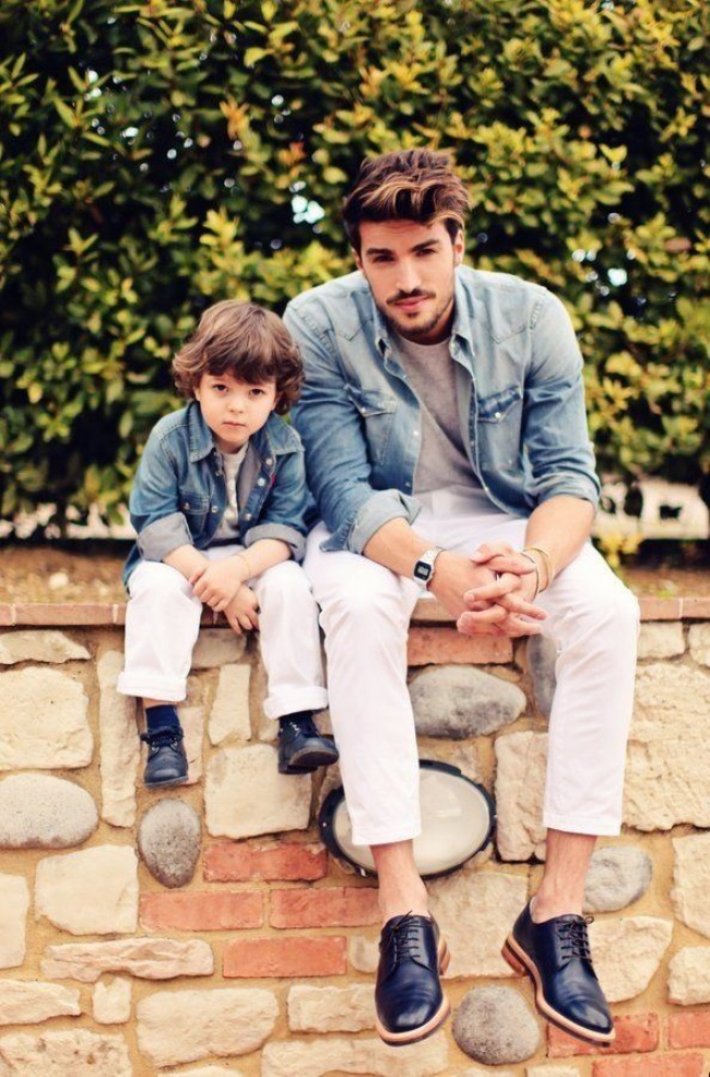 father like son in denims