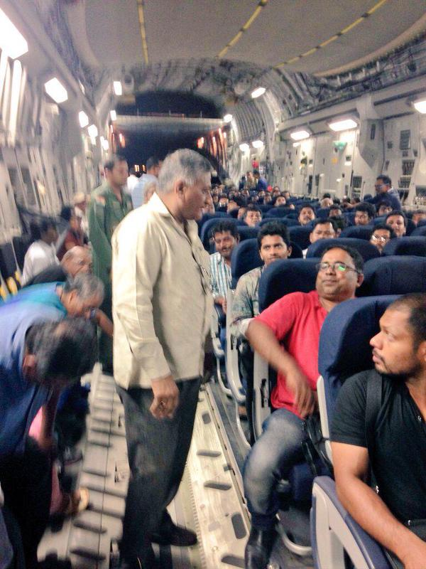 general vk singh returned with passengers