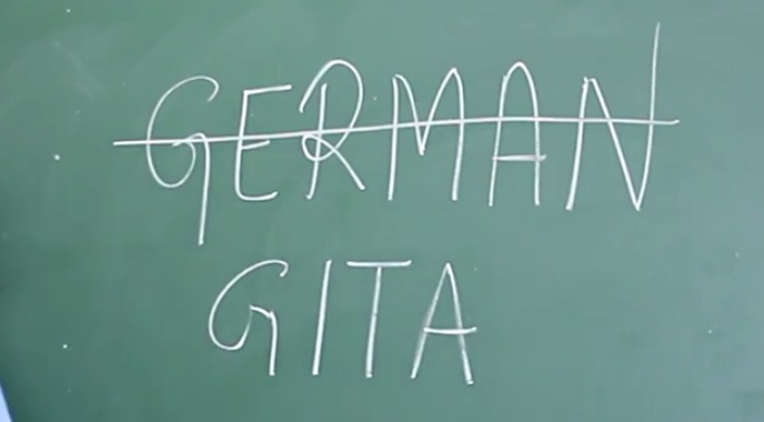 german will be replaced by gita
