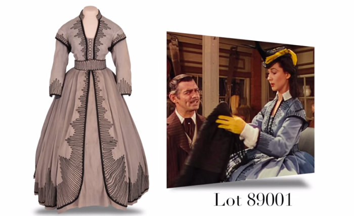 gone with the wind gown for auction