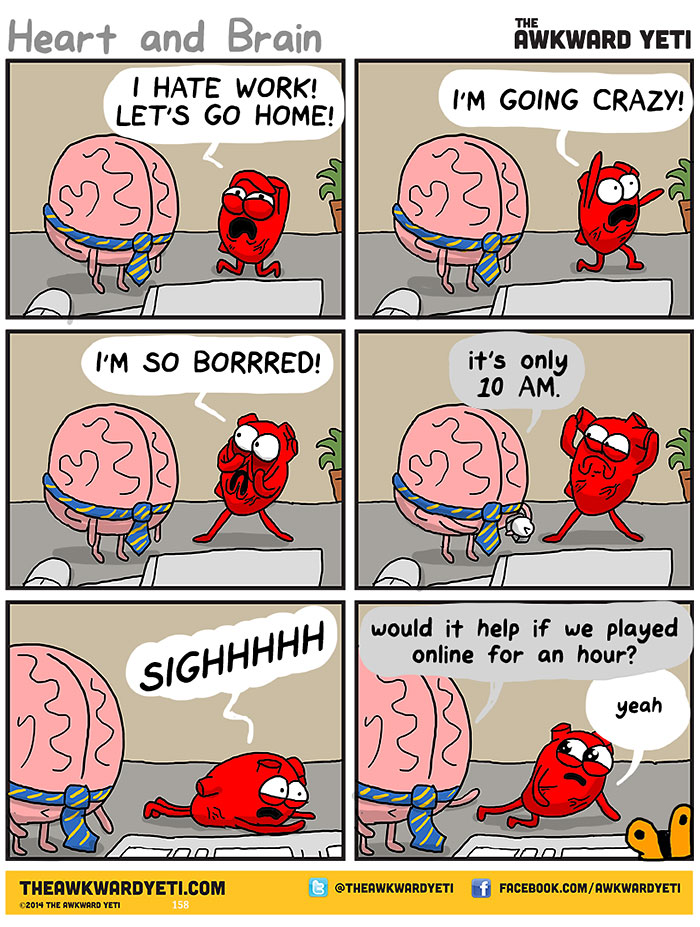 heart-and-brain-web-comic-awkward-yeti-nick-seluk-work and home