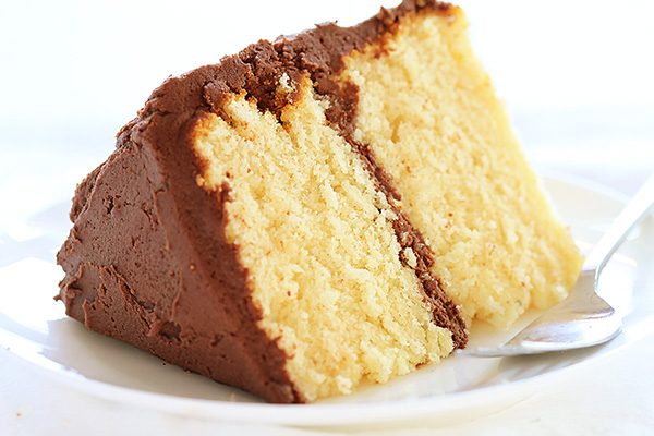 homemade cake by adding an extra egg and butter instead of oil