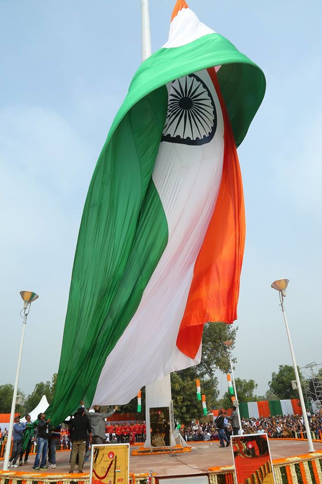 indian flag weighs 48kgs