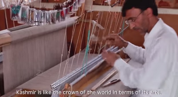 kashmir is like the crown of the world in terms of arts