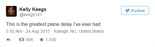 kelly keegs tweets breakup greatest plane delay ever
