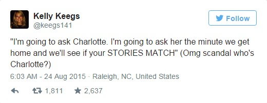 kelly keegs tweets breakup mystery character charlotte