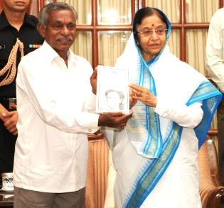 laxman rao with pratibha patil