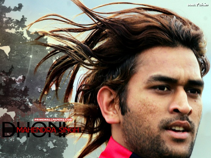 long hair dhoni