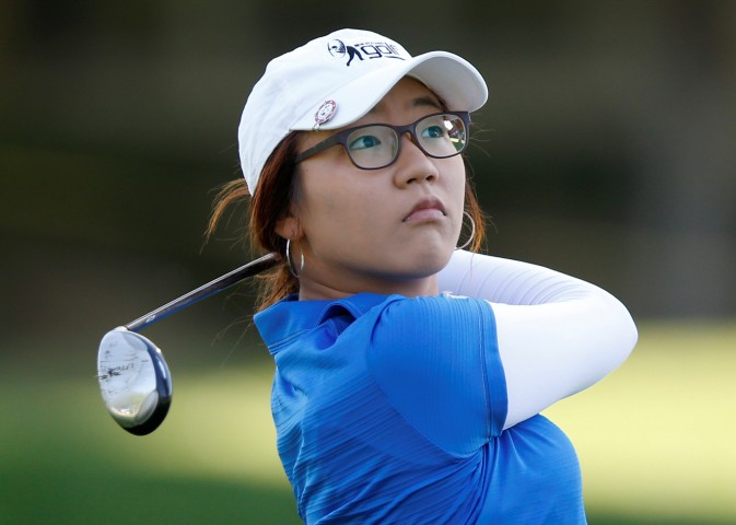 Lydia Ko hits from the 11th fairway during the Kraft Nabisco Championship LPGA golf tournament in Rancho Mirage