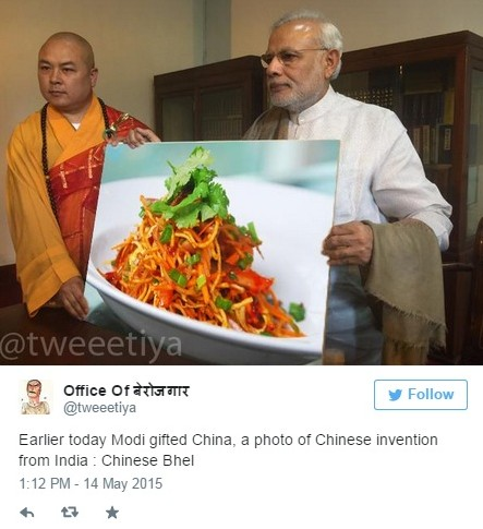 modi in china tweet 14