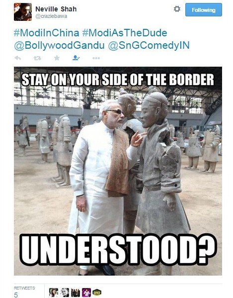 modi in china tweet 6