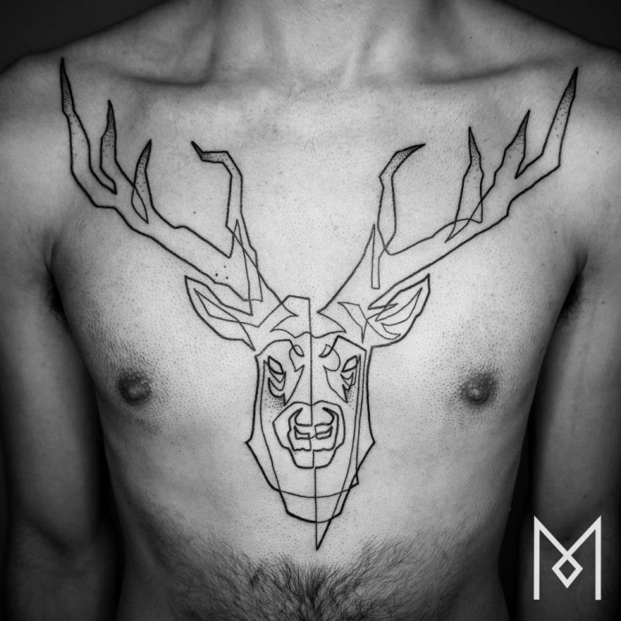 one-line-tattoo-mo-deer face