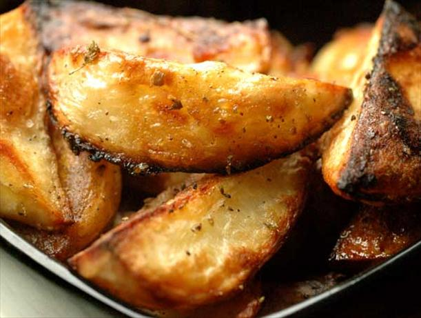 over roasted potatoes