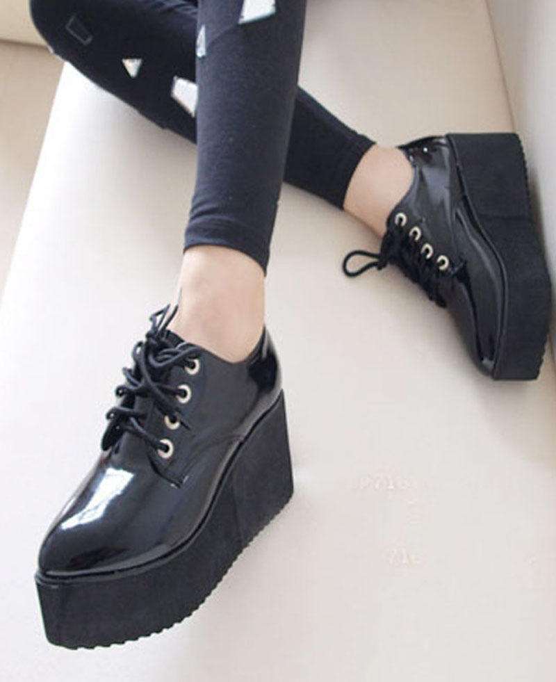 platform shoes black