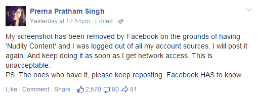 prerna's ss taken down by FB 1