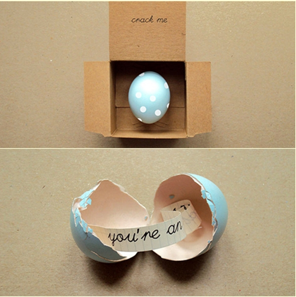 proposal in an egg shell