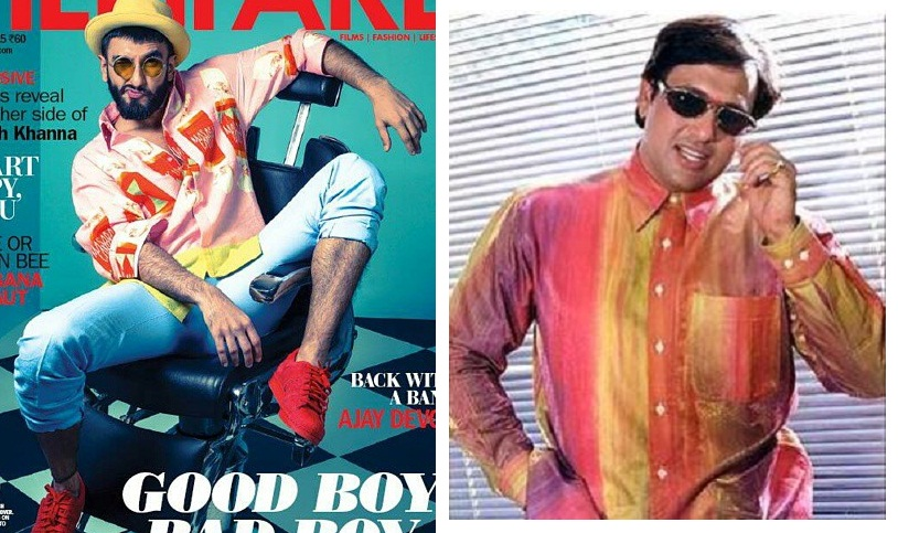ranveer in pink and other shades with govinda