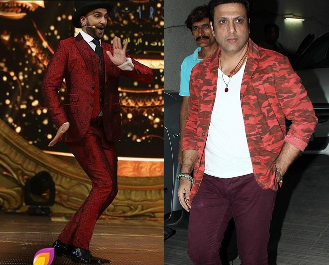 ranveer in red