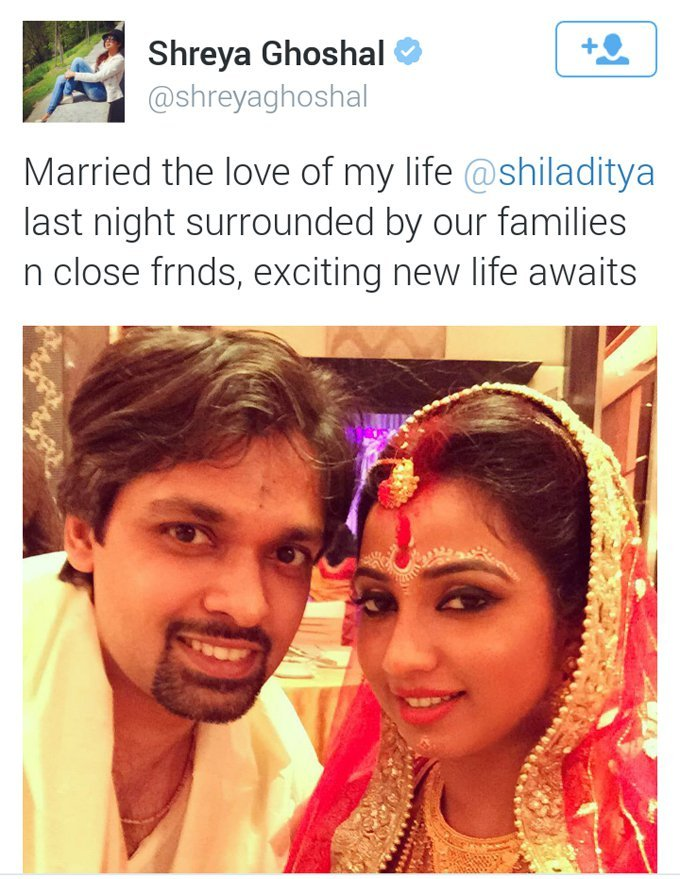 screen shot of shreya ghoshal marriage picture