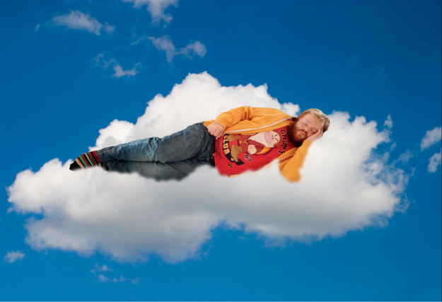 sleeping on the cloud