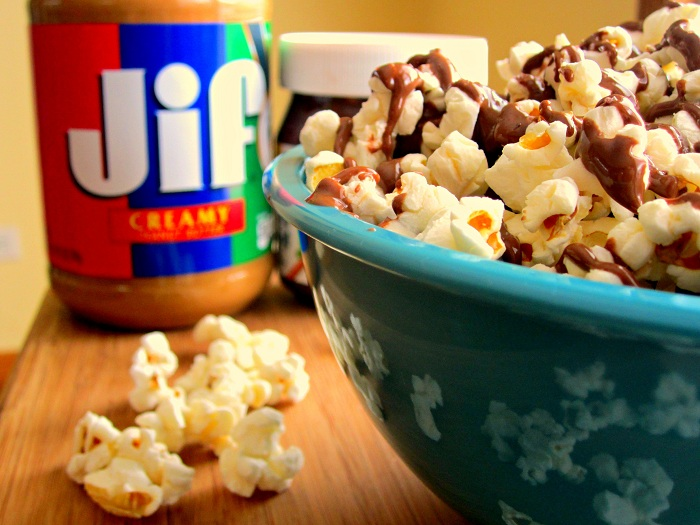 spicy nutella popcorn