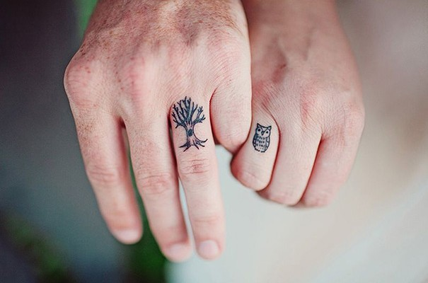 16 wedding ring tattoo ideas to replace your wedding rings on your ...