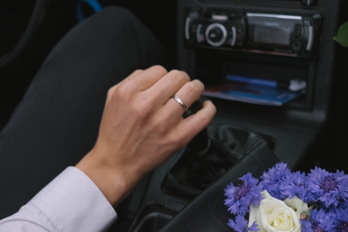 wedding day brides perspective rings