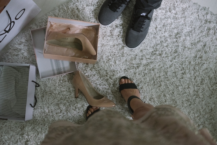wedding day brides perspective shoes worn